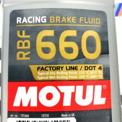 MOTUL LIQUÍDO DE FRENOS RBF 660 RACING BRAKE FLUID 500ML.