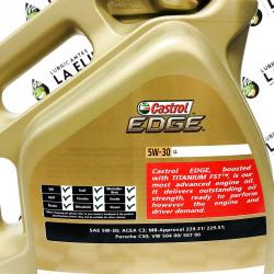 ACEITE CASTROL EDGE FST TITANIUM 5W30 LL 4 LITROS