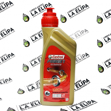 ACEITE CASTROL POWER 1 SCOOTER 4T 5W40 1 LITRO