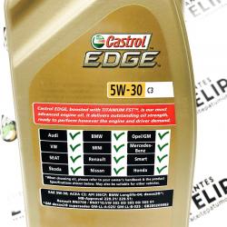 ACEITE CASTROL EDGE FST TITANIUM 5W30 C3 1 LITRO
