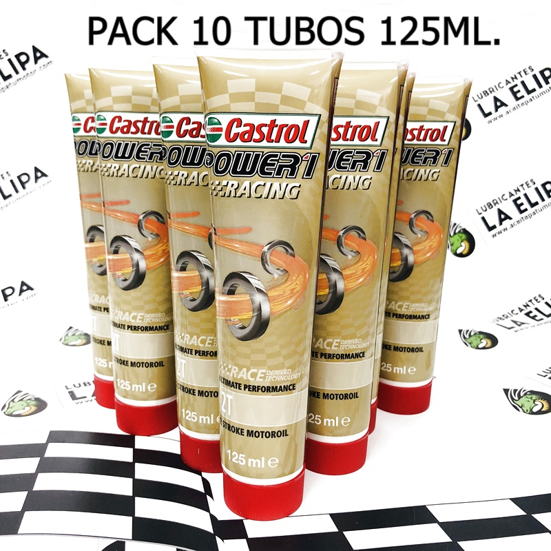 ACEITE CASTROL POWER 1 RACING 2T PACK DE 10 TUBOS 125ml