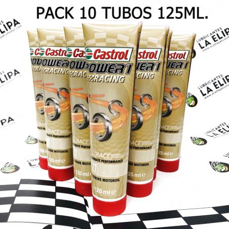 ACEITE CASTROL POWER 1 RACING 2T PACK DE 10 TUBOS 125ml