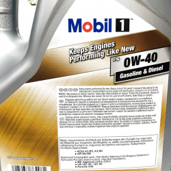 ACEITE MOBIL 1 KEEPS ENGINES ( NEW LIFE ) 0W40 5 LITROS