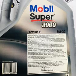 ACEITE MOBIL SUPER 3000 FORMULA F 5W20 5 LITROS