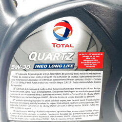 ACEITE TOTAL INEO LONG LIFE 5W30 5 LITROS