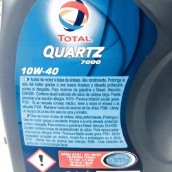 ACEITE TOTAL QUARTZ 7000 10W40 1 LITRO