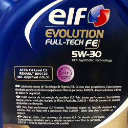 ACEITE ELF EVOLUTION FULL TECH FE 5W30 5 LITROS
