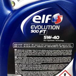 ACEITE ELF EVOLUTION 900 FT 5W40 5 LITROS