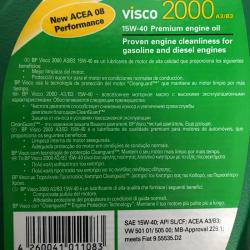 ACEITE BP VISCO 2000 A3/B3 15W40 1 LITRO