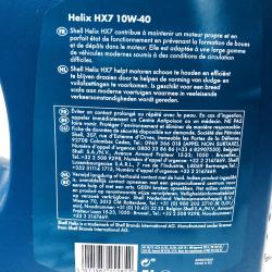 ACEITE SHELL HELIX HX7 10W40 5 LITROS