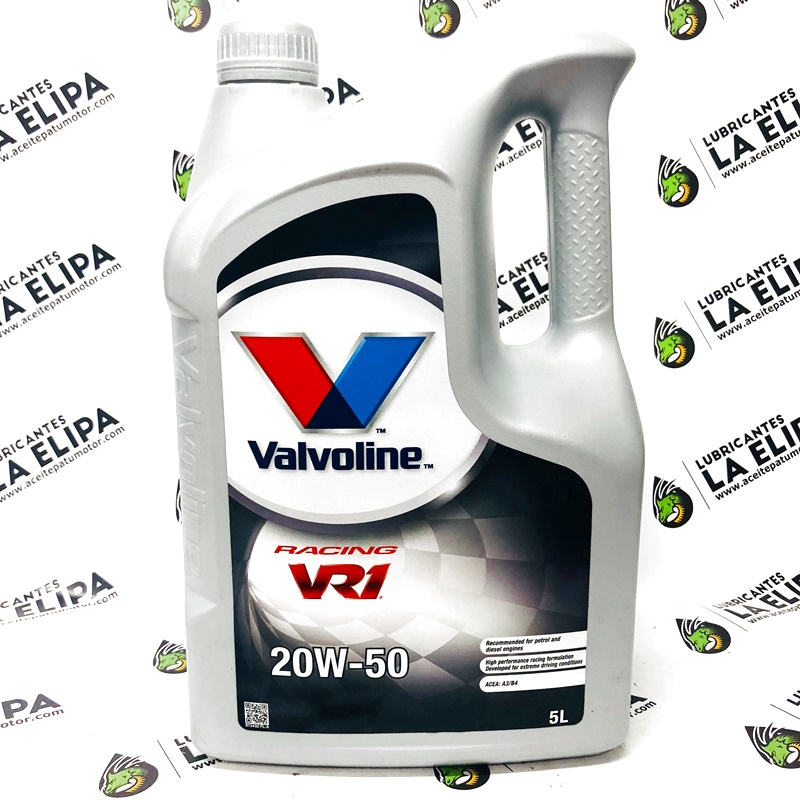 ACEITE VALVOLINE VR1  RACING 20W50 5 LITROS