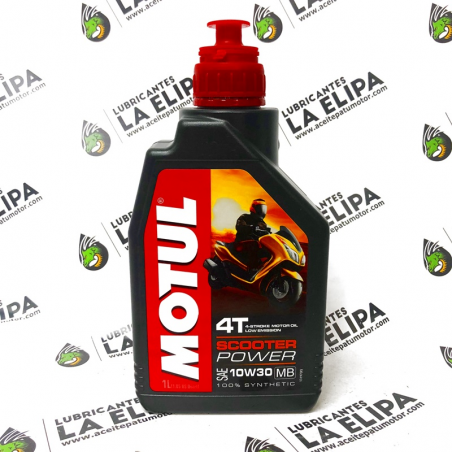 ACEITE MOTO MOTUL SCOOTER POWER 4T. 10W30 MB 1 LITRO