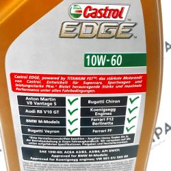 ACEITE CASTROL EDGE FST SUPERCAR 10W60 1 LITRO