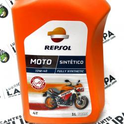 MOTO ACEITE REPSOL 4 T. 10W40 SINTETICO 1 LITRO