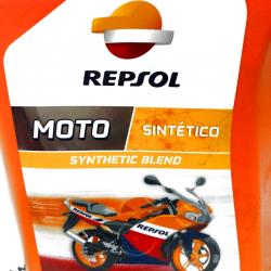 ACEITE REPSOL MOTO 2 T. SINTETICO 1 LITRO