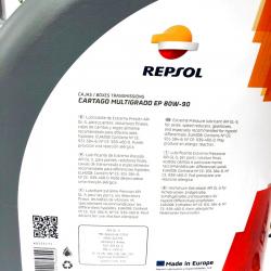 ACEITE REPSOL CARTAGO MULTIGRADO GL5  EP 80W90 5 LITROS