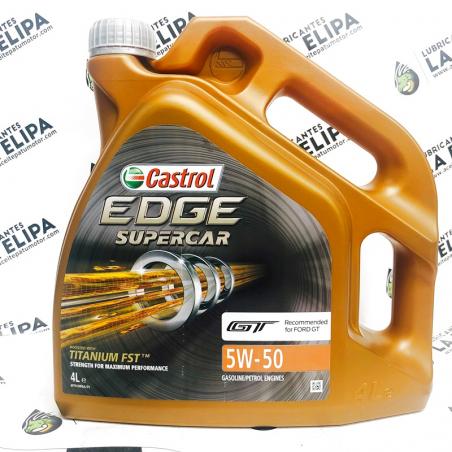 ACEITE CASTROL EDGE SUPERCAR GT 5W50 4 LITROS