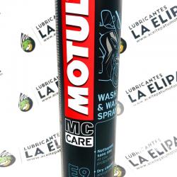 MOTUL LIMPIADOR MC CARE ™ E9 WASH & WAX SPRAY 400 ML.