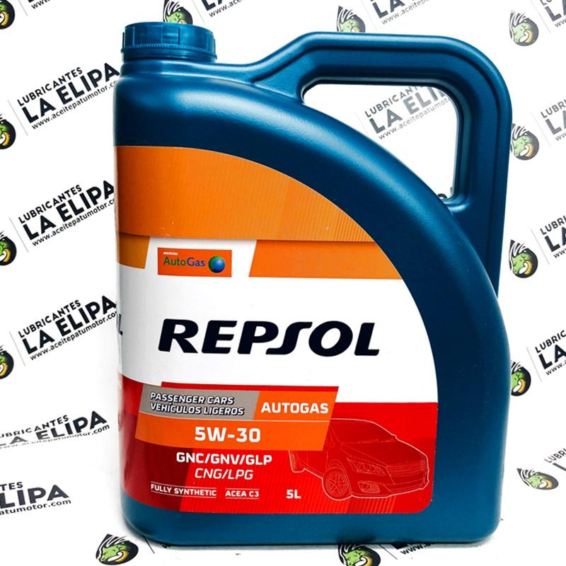 ACEITE REPSOL AUTO GAS GLP GNV GNC 5W30 5 LITROS