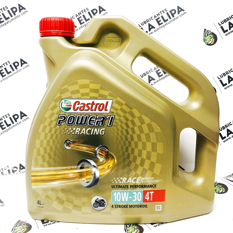 ACEITE MOTO CASTROL POWER 1 RACING  4T 10W30 4 LITROS
