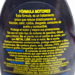 METAL LUBE FÓRMULA MOTORES 236 ML.