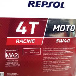 ACEITE REPSOL RACING 4T. 5W40 4 LITROS