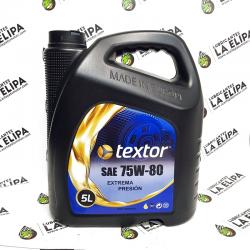 ACEITE TEXTOR 75W80 GL5 E.P. 5 LITROS