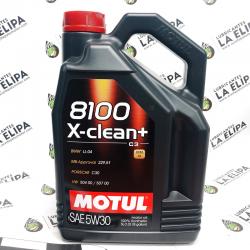 ACEITE MOTUL 8100 X-CLEAN+ C3 5W30 5 LITROS