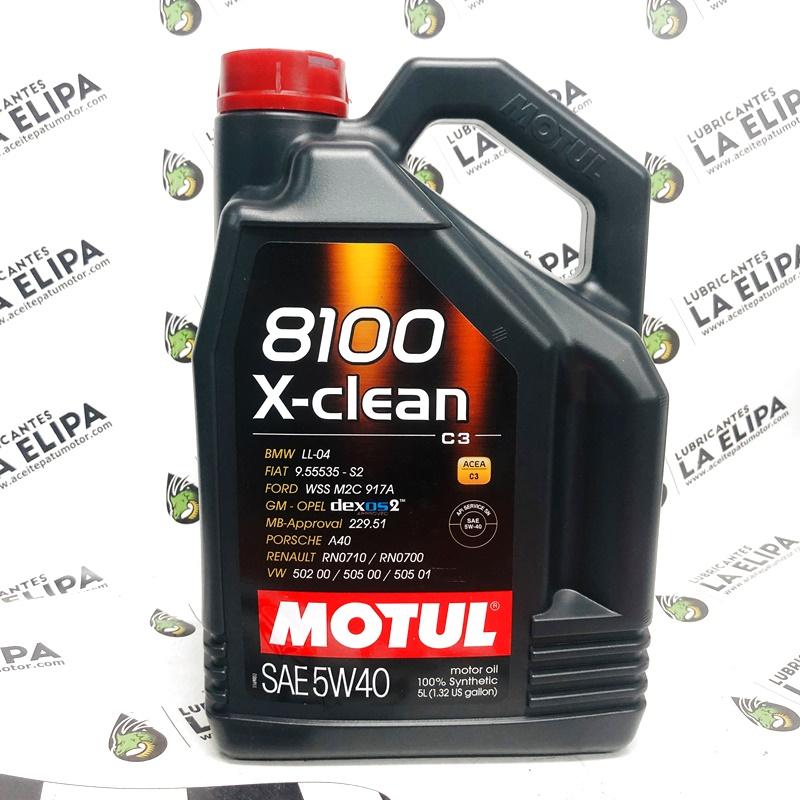 ACEITE MOTUL 8100 X-CLEAN C3 5W40 5 LITROS