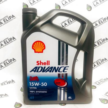ACEITE MOTO SHELL ADVANCE 15W50 4 LITROS