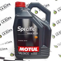 ACEITE MOTUL SPECIFIC VW 508 00 - 509 00 A1/B1 SAE 0W20 5 LITROS