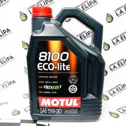 ACEITE COCHE MOTUL 8100 ECO-LITE 5W30 5 LITROS