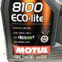 ACEITE COCHE MOTUL 8100 ECO-LITE 5W305 LITROS