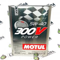 ACEITE MOTUL 300V POWER 5W40 2 LITROS