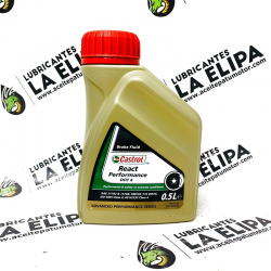 ACEITE DE FRENO CASTROL REACT PERFORMANCE DOT 4  0.5 L.
