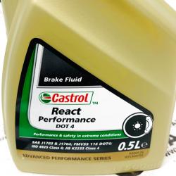 ACEITE DE FRENO CASTROL REACT PERFORMANCE DOT 4  0.5 L.