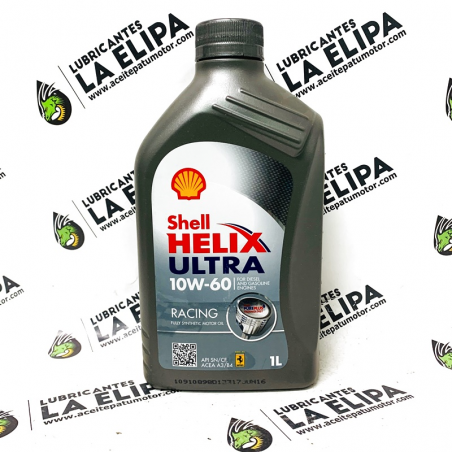 ACEITE SHELL HELIX ULTRA RACING 10W60 1 LITRO