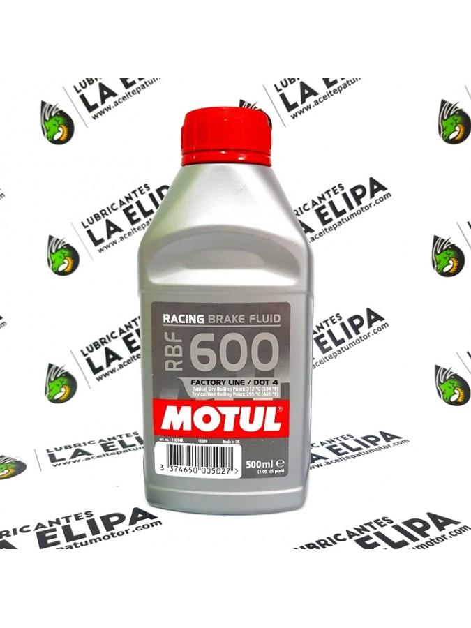 MOTUL LIQUÍDO DE FRENOS RBF 600 RACING BRAKE FLUID DOT.4 500ML.