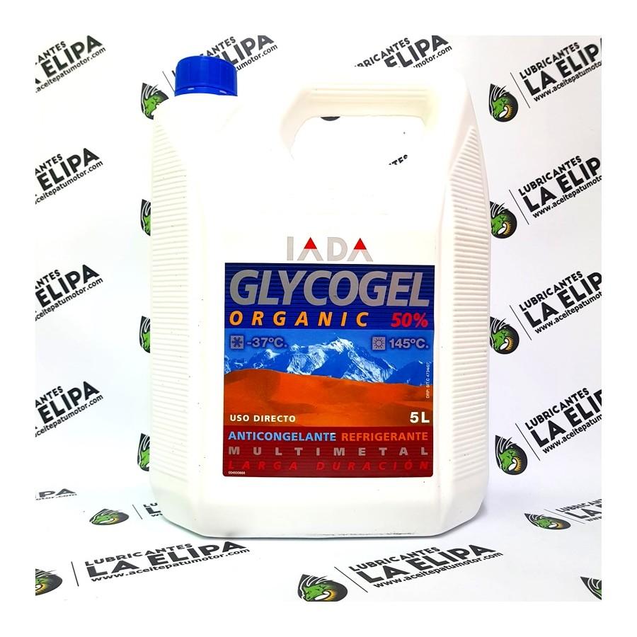 IADA ANTICONGELANTE GLYCOGEL ORGANICO 50% G12 AZUL 5 LITROS