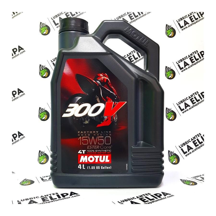 ACEITE DE MOTO MOTUL 300V 4T FACTORY LINE ROAD RACING 15W50 4 LITROS
