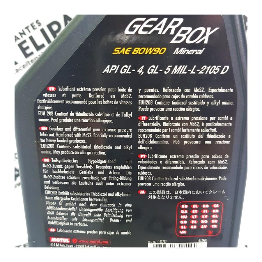 ACEITE MOTUL GEAR BOX SAE 80W90 API GL-4/GL-5 1 LITRO