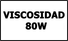 Viscosidad 80W